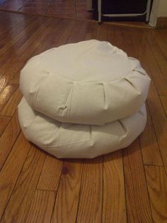 Instructable on makeing Zen Zafu meditation cushions for about $20 each (buckwheat filling is what creates the expense). Still much cheaper than the low end $35 each plus shipping and handling!
