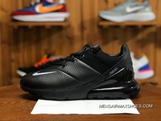 finest selection 3f627 38133 NIKE AIR MAX 270 PREMIUM AO8283 010 Mens Running Shoes Black Grey Top Deals
