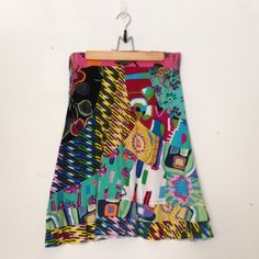 DESIGUAL PATTERNED SKIRT Lovely patterned dress worn only a few times, goes right below the knees. Suggest pairing with brown urban outfitters zip back top. Desigual Skirts Midi
