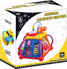 """Musical Learning Toy For Toddlers - Childrena€™s Musical Activity Play Centre With Lights And Sounds A€"""" Learning Toys For Boys And Girls Toddlers By Thinkgizmos (trademark Protected) Toddler Boy Toys, Toys For Boys, Baby Toys, Cat Activity Centre, Activity Toys, Buddy Holiday, Mailbox Accessories, Learning Toys For Toddlers, Alex Toys"""
