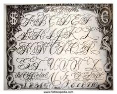 La Tattoo Font L.a. style tattoo fonts 4. �