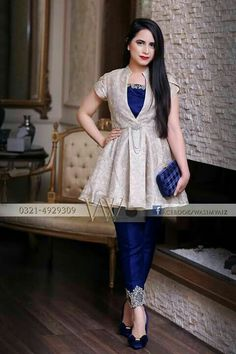 Short frocks - Call or Whatsapp to buy this dress, all customizations available, worldwide delivery mewilo www mewilo com Dress Indian Style, Indian Dresses, Indian Outfits, Pakistani Dresses Casual, Pakistani Dress Design, Stylish Dresses, Casual Dresses, Fashion Dresses, Hijab Fashion