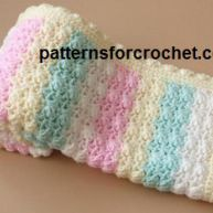 Crochet Candy Stripe Baby Blanket