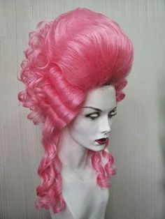 Vintage Hairstyles, Wig Hairstyles, Marie Antoinette Costume, Wig Making, Wig Styles, Everything Pink, Rococo Fashion, Hair Art, Headdress
