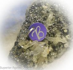 Letter B Hand Engraved Purple Personalized Small by superioragates, $4.00