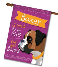 """Boxer House Flag: Flag Size: 28"""" x 40"""" Flag stand sold separately Proudly Printed in the USA Vibrant colors printed on a poly/cotton outdoor quality fabric. Digitally printed"""