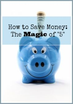 "Here is a fool-proof way to trick yourself into saving money, even if you have the worse savings habits! The magic of ""5."""