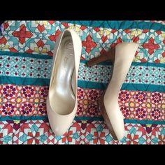 Etienne Aigner beige heels. Size 10 Beige heels only worn once. Etienne Aigner Shoes Heels