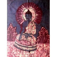 Buddha Tapestry Wall Hangings lord buddha indian god cotton fabric tapestry batik painting wall