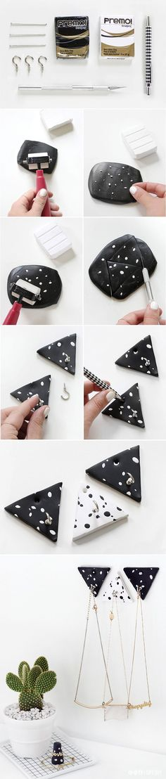 MY DIY | Triangle Clay Necklace Hooks | I SPY DIY