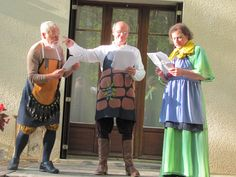 Jim, Den and Peter in Pyramus and Thisbe, France 2012