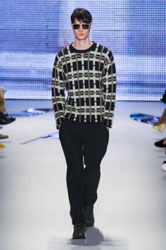 Lacoste AW14 runway | don't usually pin menswear for obvious reasons, but this sweater is way cool.
