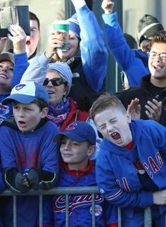 Along the parade route// Cubs World Series victory parade in Chicago,Nov 4,2016