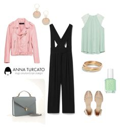 """""""Everyday look"""" by annaturcato ❤ liked on Polyvore featuring MANGO, ASOS, sweet deluxe and Essie"""