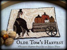 Olde Tom's Harvest Primitive Punch Needle PDF by vermontharvest