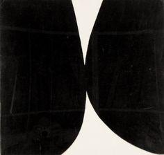 Ellsworth Kelly Study for Rebound painting black white 1955