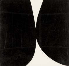 Ellsworth Kelly Study for Rebound painting black white 1955