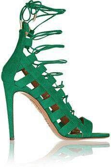 #aquazzura #green #sandals #highheels