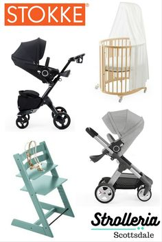 Strolleria in Scottsdale, AZ is a family-owned retailer offering a wide range of high-quality strollers, car seats and baby gear. Visit us to try out the Stokke Xplory, Crusi and Scoot strollers; the Tripp Trapp high chair; Sleepi crib and more!