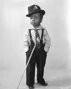 "Billie ""Buckwheat"" Thomas (1931-1980) African American child actor that played…"