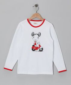 Take a look at this White Scooter Tee - Infant, Toddler & Girls by SiSteRSco on #zulily today!