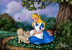 Alice in Wonderland Fan Art: alice in wonderland Disney Au, Disney Fan Art, Disney Magic, Disney Movies, Disney Pixar, Disney Characters, Walt Disney, Alice In Wonderland 1951, Disney Crossovers