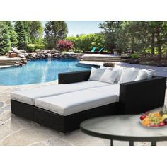 Modway Fence 4 Piece Outdoor Patio Daybed & Reviews | Wayfair - $1314.99