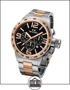 TW Steel Canteen Unisex reloj infantil de cuarzo con esfera cronógrafo y plateado correa de acero inoxidable de CB133 de  ✿ Relojes para hombre - (Gama media/alta) ✿