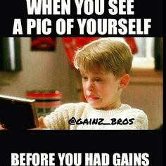 When you see a pic of yourself before you had gains... Check out Fitness Deals Online for savings on ALL your fitness needs ~ http://www.fitnessdealsonline.com #gains #gymmemes #gymhumor