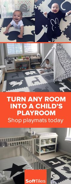 Use SoftTiles Foam Play Mats to create soft designer playrooms!