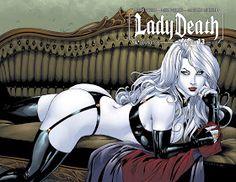 Richard Ortiz Sketchbook: Lady Death #13 (Wraparound Cover)