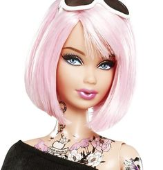 The woman that has everything has finally got inked. The tokidoki Barbie Doll by Simone Legno is the first ever tattooed Barbie to hit the streets ... er, collectors' shelves. Rage of conservative parents in 3 ... 2 ... 1 ...