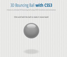 Creating an Animated 3D Bouncing Ball with CSS3