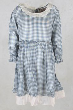 Myriam Dress with Ruffle Trim Hem in Vichy - Les Ours