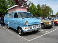 Ford Transit Camper Van: 1966 by Thames Classic Campers, Ford Classic Cars, Classic Trucks, Retro Caravan, Camper Caravan, Camper Van, Ford Transit Camper, Rv Motorhomes, Old American Cars