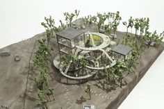 Land Watcher by ondesign Landscape Model, Landscape Architecture Design, Green Architecture, Organic Architecture, Concept Architecture, Futuristic Architecture, Pavilion Architecture, Residential Architecture, Contemporary Architecture