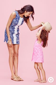 Like mother, like daughter! Your mini me will look the part when you're both wearing printed Lilly Pulitzer for Target shift dresses with lace detail—so perfect for summer celebrations with family. The collection launches April 19.