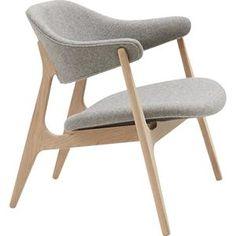 Spän Lænestol Minimalist Design, Scandinavian Design, Accent Chairs, Interior Design, Grey, Modern, Furniture, Home Decor, Furniture Plans
