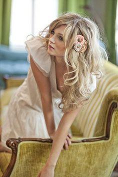Whimsical Flower in Hair.