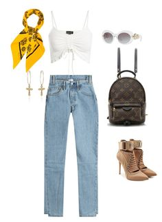 """""""??"""" by c0nejita ❤ liked on Polyvore featuring Louis Vuitton, Christian Dior, Versace, Puma and Vetements"""