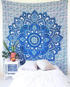 Aqua Summer Mandala Tapestry – The Bohemian Shop Bohemian Fabric, Bohemian Room, Bohemian Tapestry, Bohemian House, Mandala Tapestry, Boho Designs, Tapestry Wall Hanging, Wall Hangings, Aqua