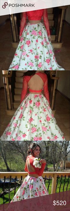 Sherri Hill 2016 Prom Dress This is a 2016 Sherri Hill Prom Dress bought at Peaches in Chicago. Only worn once and is in great condition. Nothing has been altered but can be to fit your body beautifully! The top is like a coral color. The bottom is more of an off white/cream color. Sherri Hill Dresses Prom