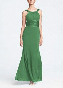 Wrong colour. This long chiffon and charmeuse combination dress is a flattering look for all body types.   The high neck is a sophisticated look that pairs nicely with the length of the dress.  Dress this up with bold jewelry.  Fully lined. Back zip. Imported polyester. Dry clean only.  Get inspired by our colors..    To protect your dress, try our Non Woven Garment Bag. *SPECIAL VALUE! Was , Now !