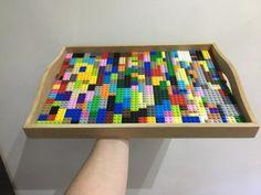 Bandeja feita de Lego - MaterniARTE