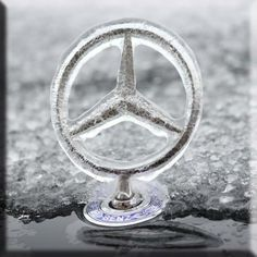 It's official...welcoming winter Mercedes style!   #Mercedes #Star #Louisville #Kentucky #Winter #ice
