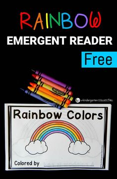 This rainbow emergent reader is perfect for spring! Work on color words and sequencing with this fun and free printable reader! #rainbow #emergentreader #freeprintable #colors #colorwords #kindergarten