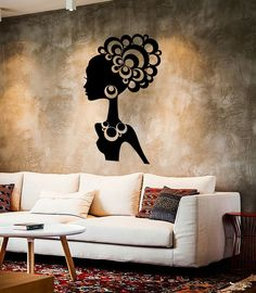 Wall Stickers Vinyl Decal Hot Sexy Girl Black African Lady Cool Decor (ig2271)