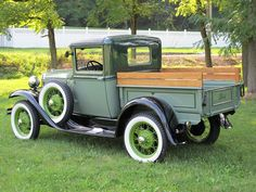Ford Model A Pick-Up◆ - Movement. Vintage Pickup Trucks, Classic Pickup Trucks, Old Ford Trucks, Antique Trucks, Ford Classic Cars, Vintage Cars, Lifted Trucks, Lifted Ford, Antique Cars