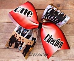 Artist: One Direction Cheer Bow Soccer Bow or Softball Bow