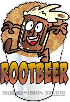 """6.5"""" Rootbeer Fun Shave Shaved Italian Ice Snow Cone Concession Food Truck Decal #SolidVisionStudio"""